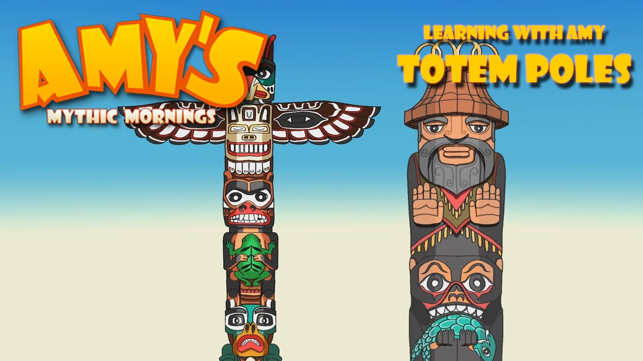 Teach Kids About Totem Poles - Amy's Mythic Mornings - YouTube