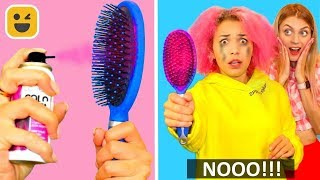 Curly Hair vs Long Hair || Funny Pranks! Girl DIY Life Hacks
