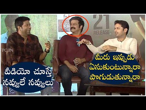 Hero Nithin And Vennela Kishore Funny Comments On Brahmaji | Beeshma Interview | TFPC