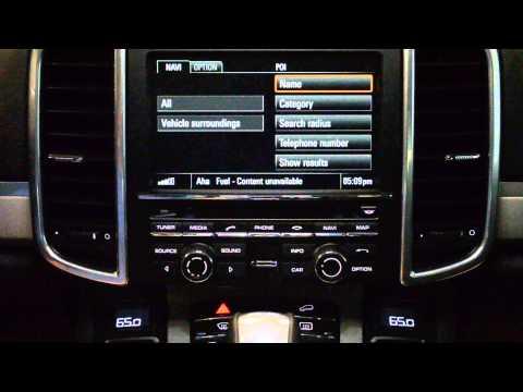 Porsche Online Services with Aha Radio overview & demo