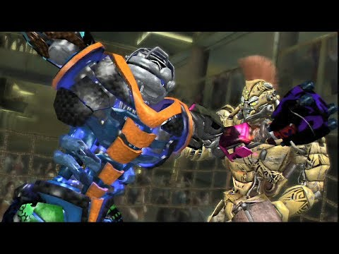 REAL STEEL THE VIDEO GAME - TIRANUS Vs MIDAS & RAMCHIP, IDA-TEN)