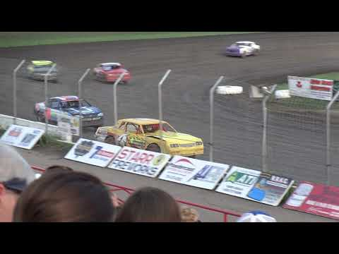 Red River Valley Speedway, IMCA Stock Car Heat 8/18/2017