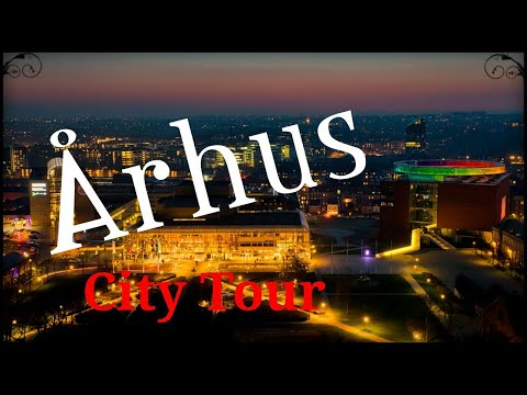 Aarhus, (Århus) Jutland,  (Jylland), Denmark (City Tour) walking and cycling.. GoPro