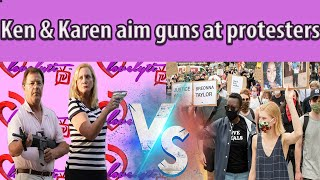 'Ken and Karen' aim guns at protesters in St. Louis + shooting breaks out at Breonna Taylor Protest
