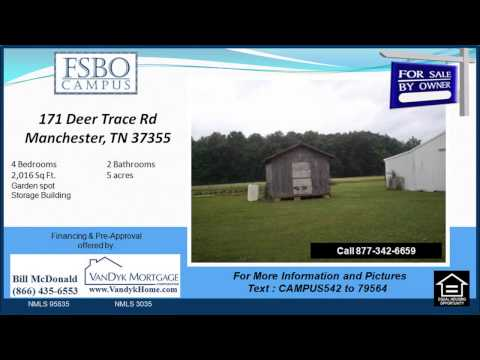 4 bedroom home for sale near North Coffee Elementary School in Manchester TN