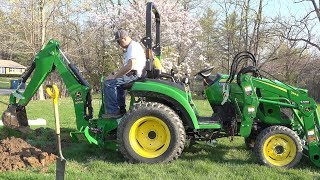 First Use! John Deere 2038R 270B Backhoe