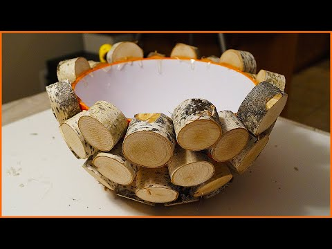 Woodturning Sliced Log Bowl