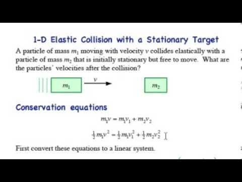 Elastic Collision Stationary Target In 1d Youtube