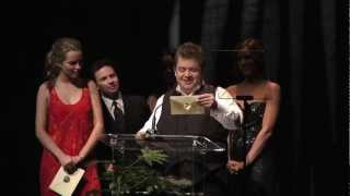 2012 Annie Awards Brittany Snow Epic Screw Up Fail Patton Oswalt Saves the Day
