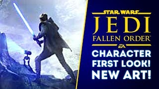 Star Wars Jedi Fallen Order CHARACTER REVEALED with Droid! NEW ARTWORK REVEALED (New Star Wars Game)