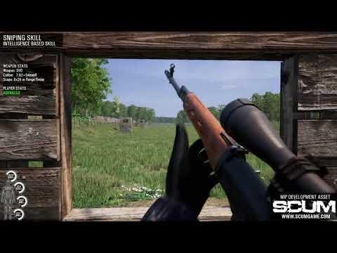 SCUM 步槍與狙擊的擬真系統介紹 - YouTube