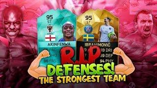 THE STRONGEST ATTACK IN FIFA 16 ULTIMATE TEAM - SUPER 95 IBRA + AKINFENWA - RIP DEFENSES #5