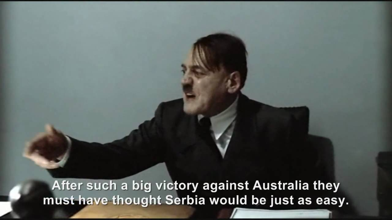 Hitler is informed Serbia beats Germany 1-0
