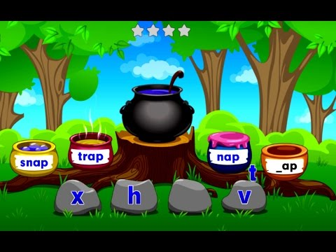 Kids Learn To Read English Words With Phonics Rhyming