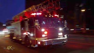Montréal: Le SIM répond à un feu en urgence / Fire dept responding with sirens 8-26-2019