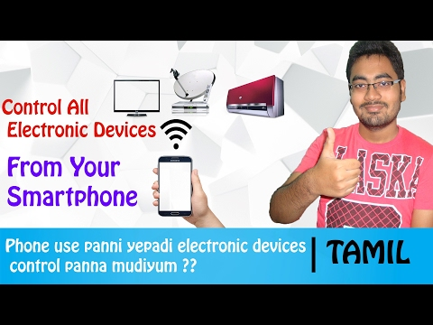 How to control electronic devices from the Android smarphone | IR Blaster | Tamil