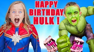 Superhero Birthday Party Surprise! Jokes on Hulk! Kids Fun TV
