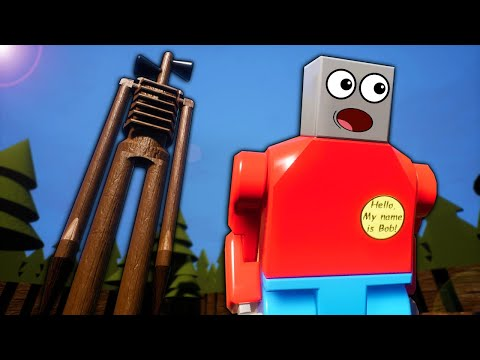 Escaping Siren Head In The Lego City Forest In Brick Rigs Gameplay!