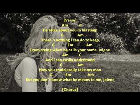 Jolene - Dolly Parton - Chords and Lyrics