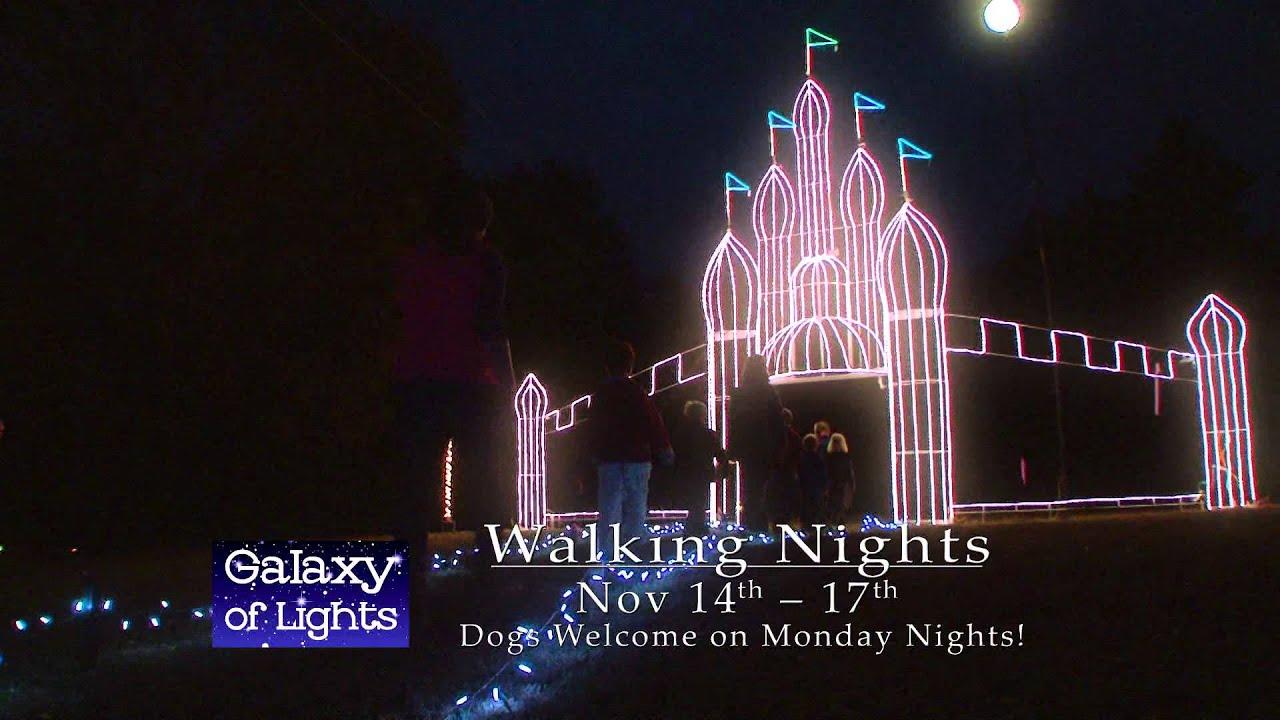 galaxy of lights walking nights week 1 youtube