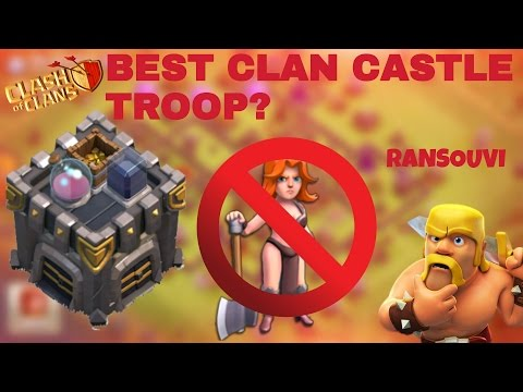 Best CLAN CASTLE Troop against VALKYRIEs || ANTI VALKYRIE || CLASH OF CLANS