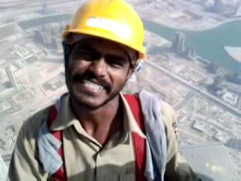 Burj Khalifa –  Men of steel….