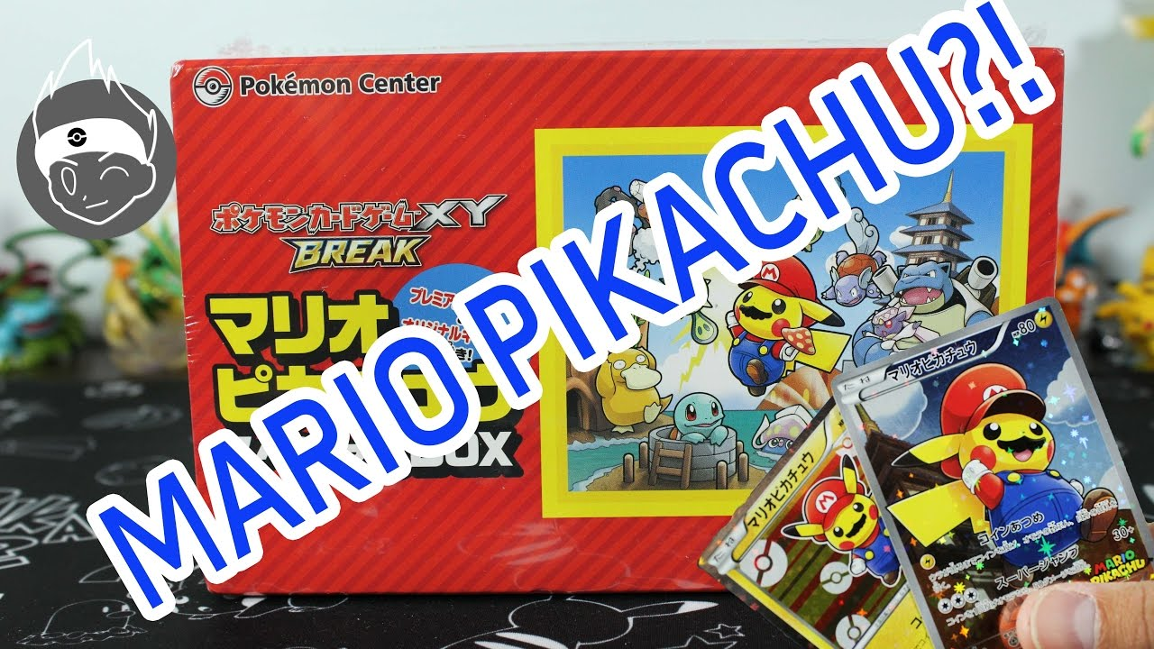 Pokemon Cards Opening A Pikachu Mario Collection Box Cosplay