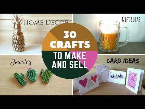30-crafts-to-make-and-sell-diy-easy-make-money-online-on-etsy-or-at-craft-fairs-|-by-fluffy-hedgehog