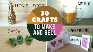30 Crafts to Make and Sell DIY Easy Make money online on Etsy or at Craft Fairs | by Fluffy Hedgehog