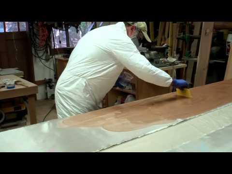 Fiber-Glassing the Side Panels of a Drift Boat