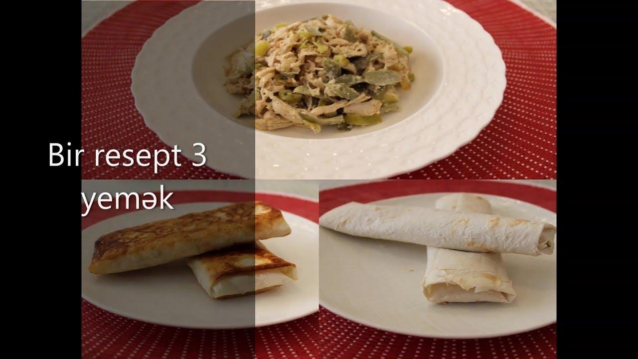 1 resept 3 yemək (mütləq sınayın )