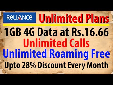 Reliance Communication Offers Rs.16.66 Per 4G Data And  Unlimited Call Home And Roaming | Data Dock