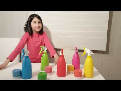 LEARN COLORS For Children with Spray Paint Bottle Colors – Colours for Kids to Learn Paint Cars