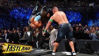 John Cena sends AJ Styles crashing through the announce table: WWE Fastlane 2018 (WWE Network)