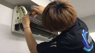 Heng Hwa Aircon Servicing - Dismantling & Cleaning