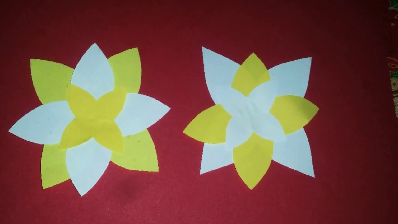 Como Hacer Flores De Papel Para Decorar Cuaderno O Tarjetas