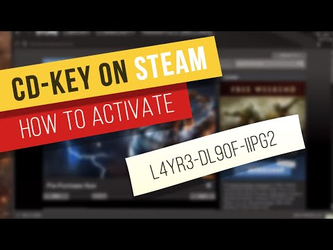 Tutorial: How to activate a game cd-key on Steam
