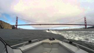 Hewescraft Searunner 200 Returning Through the Golden Gate Bridge by  Northern California Fishing Videos
