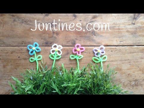 Flores de limpiapipas, perfectas para decorar o para regalar en cualquier ocasión