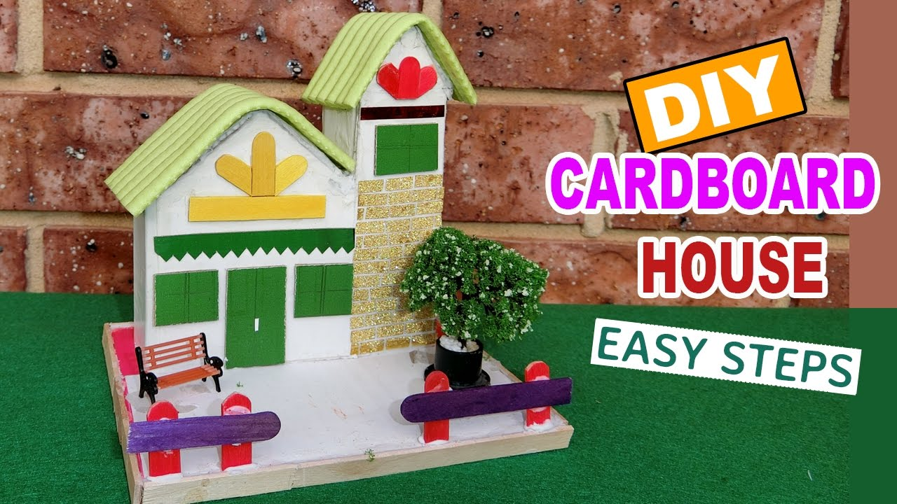 Cardboard House for kids #2 : Fairy house | diy projects - YouTube