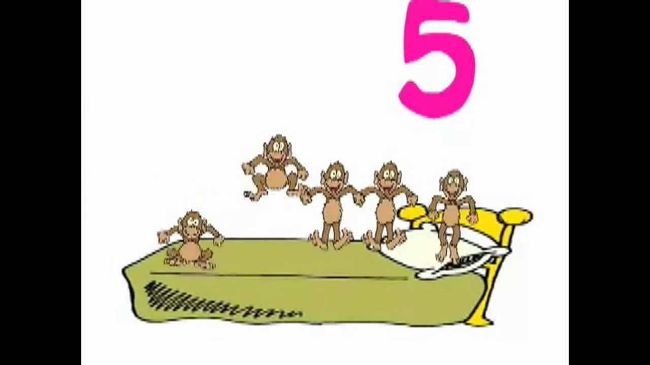 five little monkeys jumping on the bed - original song - youtube