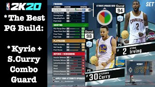Best Point Guard Build 2K20: Steph Curry + Kyrie Irving Moves Best PlaySharp Combo Guard Build 2K20