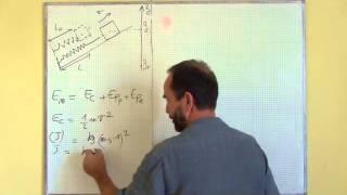 oscillateur harmonique / II-1 énergie mécanique, masse-ressort sur plan incliné