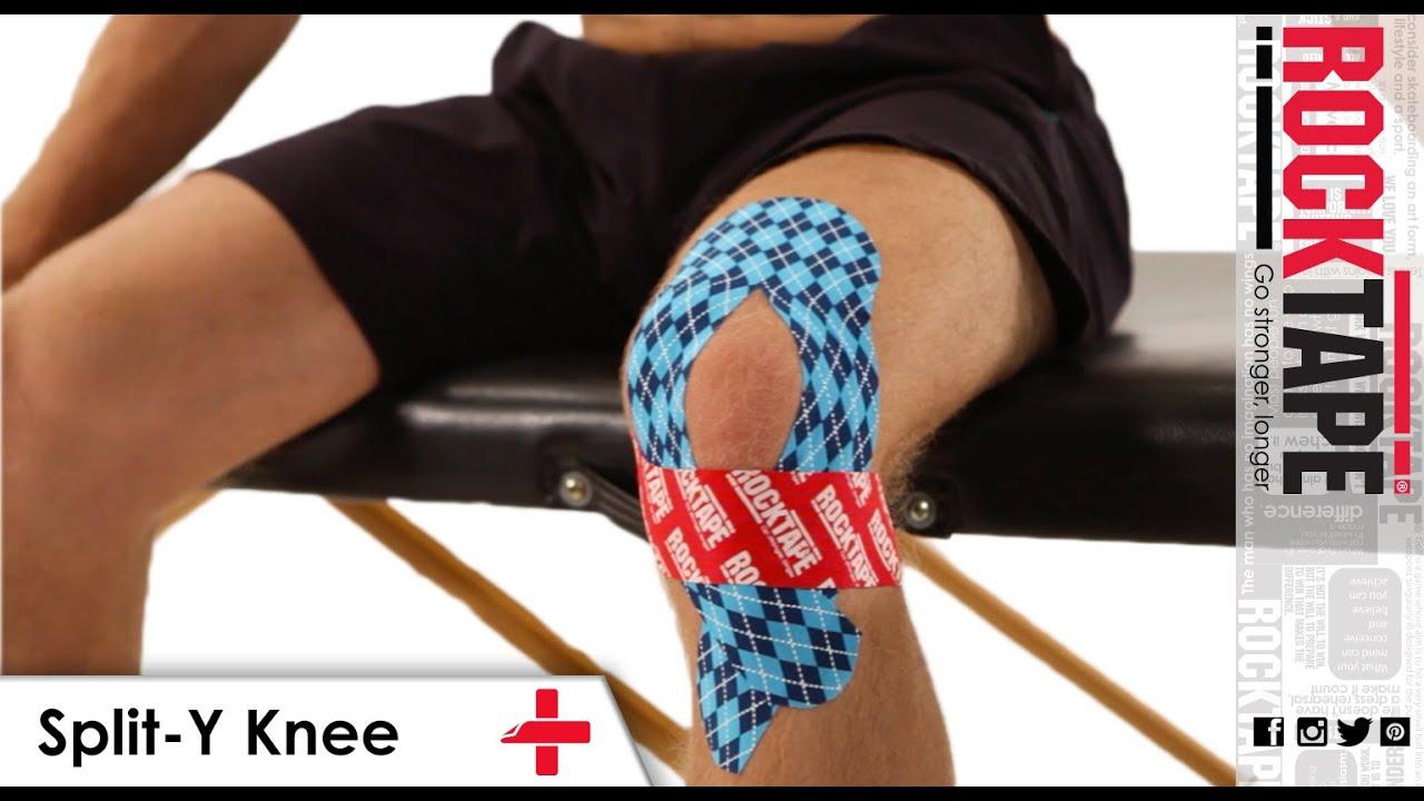 Rocktape Kinesiology Tape Instruction Split Y Knee Youtube