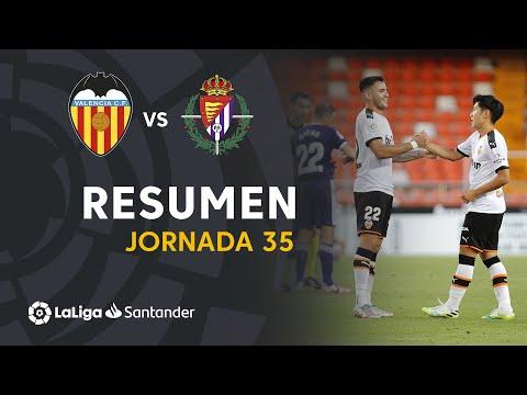 Resumen de Valencia CF vs Real Valladolid (2-1)