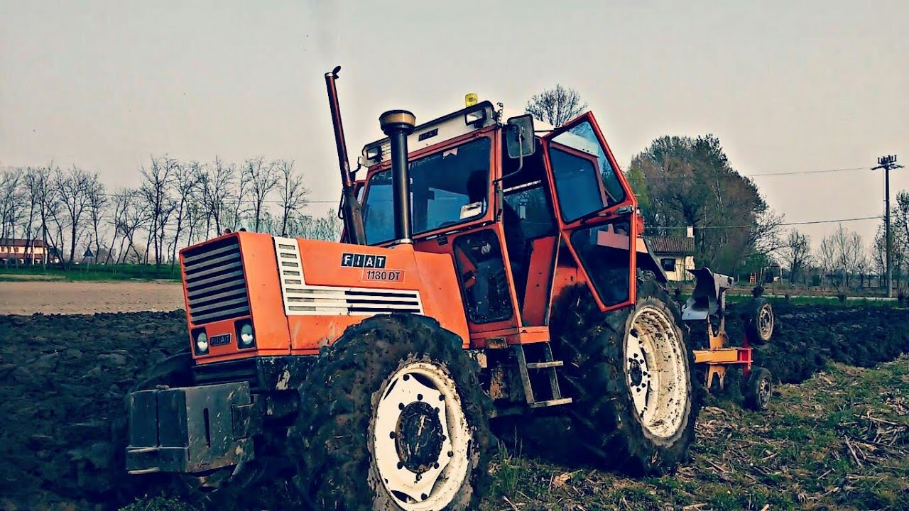 Fiat 1180 dt bivomere mipra aratura plowing youtube for Fiat aratura