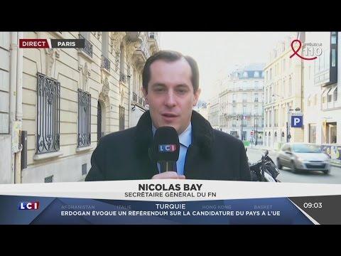 Interview de Nicolas Bay avant le meeting de Marine Le Pen à Lille (LCI, 26/03/17, 9h)