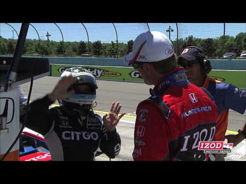 Hunter-Reay and Duno's Pit Confrontation at The Glen