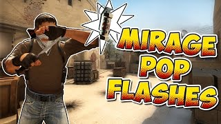 CS:GO - 10 Must-Know Self Pop Flashes on Mirage