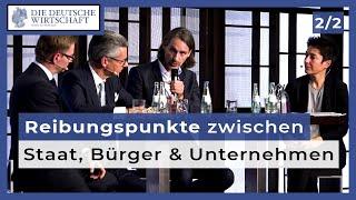 Precht, Grillo, Holznagel und Hayali diskutieren (2): Respektiert der Staat Bürger und Wirtschaft?